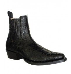 Botin serpiente real negro